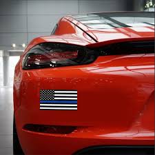 Auto Parts And Vehicles Vinyl Waterproof Blue Line Police Car Sticker Window Decal American Flag Car Truck Graphics Decals