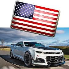 1pc 3d Metal American Flag Sticker Car Decal Badge Emblem Adhesive Aluminium Us 7 59 Picclick