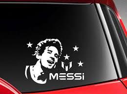 Soccer World Star Messi Vinyl Car Decal Sticker 6 W Etsy