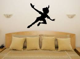 Peter Pan Shadow Silhouette Disney Children S Decal Wall Art Sticker Picture Ebay