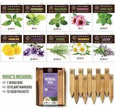 plant markers herbal tea herb garden