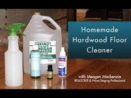 homemade hardwood floor cleaner you