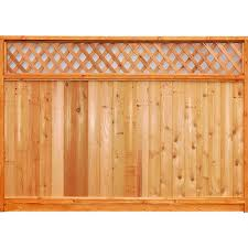 Unbranded 6 Ft X 8 Ft Premium Cedar Lattice Top Fence Panel With Stained Spf Frame Actual Size 68 3 8 In H X 96 In W 6x8ltp The Home Depot Wooden Fence