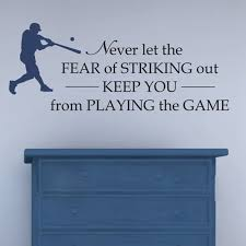 Free Shipping Baseball Vinyl Wall Decal Never Let The Fear Of Striking Out Boys Room Baseball Decor Sticker S2062 Sticker Wholesale Stickers Nurserystickers Oval Aliexpress
