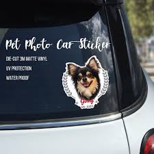 Custom Dog Car Sticker Pet Photo Vinyl Car Decal Animal Car Sticker Window Decal Animal Decal Custom Vinyl Deca Dog Breed Decal Custom Vinyl Decal Animal Photo