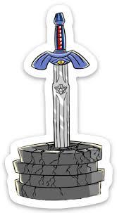 Master Sword Vinyl Sticker Flex Comics