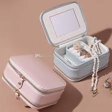 2020 pu leather jewelry box travel case