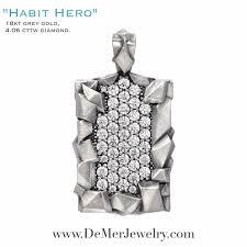 4 06 cttw mens diamond pendant necklace