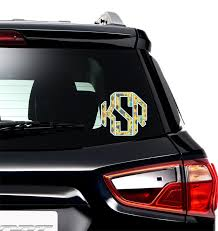African Safari Monogram Car Decal Personalized Youcustomizeit
