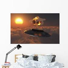 Ufo Observing Atomic Bomb Wall Decal Wallmonkeys Com