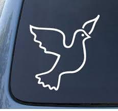 Amazon Com Dove Car Truck Notebook Vinyl Decal Sticker 1240 Vinyl Color White Automotive