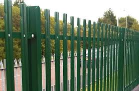 Palisade Fence Supplied In Sets Palisade Fencing Panels Gates Security Toppings