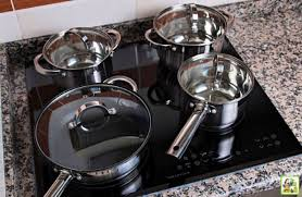 an induction cooktop stove