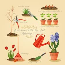 spring gardening to do list card