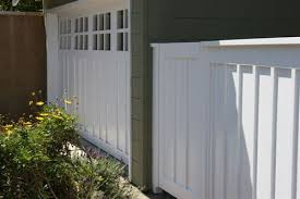 White Painted Wood Privacy Fence Exterior House Color Fence Design House Exterior