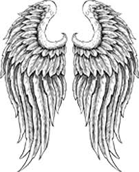 Amazon Com Detailed Angel Wings With Feathers Black White Vinyl Decal Sticker Two In One Pack 4 Inches Tall Arts Crafts Sewing