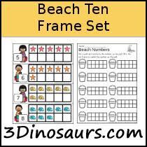 beach ten frame activities