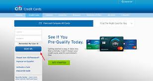 citibank credit card login official