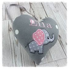 grey pink elephant nursery decoration