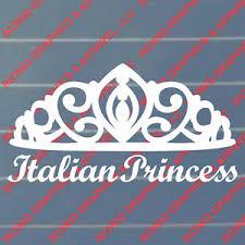 Italian Princess Decal Sticker Ebay