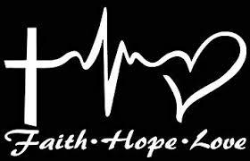 Amazon Com Makarios Llc Faith Hope Love Heartbeat Decal Vinyl Sticker Cars Trucks Vans Walls Laptop Mkr White 5 75 X 4 5 Mkr031 Automotive