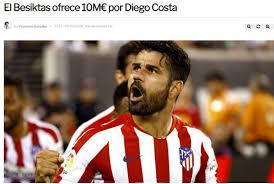 Diego Costa Beşiktaş ile görüştü mü? Transfer haberi!