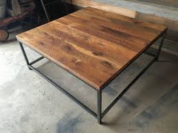 square coffee table rustic reclaimed