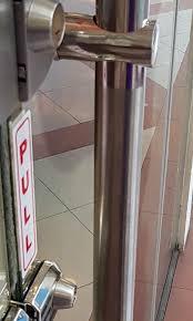 glass door stainless steel type handle
