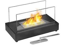 bioethanol tabletop fireplace in black