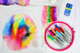how to do sharpie tie dye babble