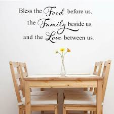 Bless The Food Family Love Quotes Wall Sticker Home Kitchen Dining Room Decals For Sale Online Ebay