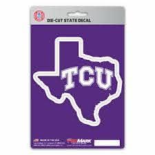 Tcu Horned Frogs Texas State Vinyl 3d Logo Decal Sticker Car Auto Ncaa Ebay