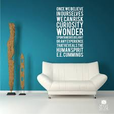 Ee Cummings Human Spirit Wall Decal Quote Subway Art Style Etsy
