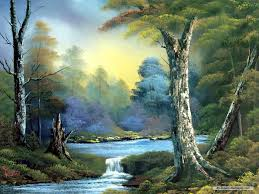 free art wallpaper landscape painting