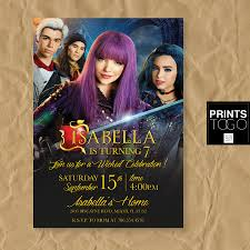 Descendants Invitation Disney Descendants 2 Invite Descendants
