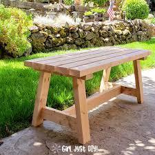 modern 2x4 bench diy tutorial girl