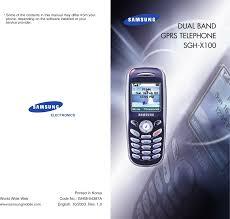 Samsung Sgh X100 Users Manual X100eng