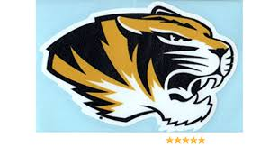 Amazon Com Missouri Tigers Mascot Head Logo 4 Vinyl Decal Mizzou Car Truck Sticker Automotive