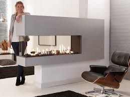 gas 3 sided fireplace lucius 140 r by