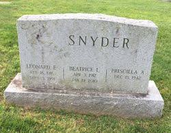 Beatrice L. O'Neal Snyder (1912-2010) - Find A Grave Memorial