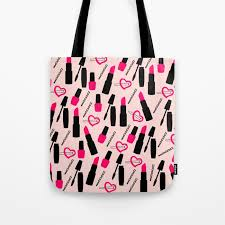 cute makeup tote bag by kapotka society6