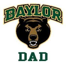 Amazon Com Baylor Bears Dad Clear Vinyl Decal Car Truck Baylor University Stickers Everything Else
