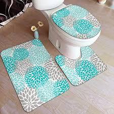 com vbcdgfg bathroom rugs sets