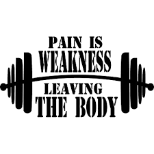 Creativesignsndesigns Pain Is Weakness Leaving The Body W Barbell Graphic Gym Vinyl Decal 22 X12 Black Buy Products Online With Ubuy Bahrain In Affordable Prices B07vlcdhw8