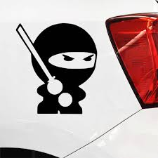 Cute Ninja Stickers Car Creative Vinyl Sticker On Car Stickers And Decals Window Sticker Car Styling Decal Car Stickers Aliexpress