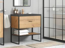 industrial bathroom vanity unit with