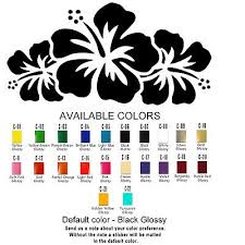 Flowers Vinyl Decal Sticker Refrigerator Window Car Hibiscus Usa Seller Ebay
