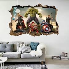 3d Marvel Heroes Wall Sticker Wall Decals Irealand Kids Wall Stickers