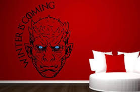 Amazon Com Night King Wall Sticker Game Of Thrones Vinyl Decal White Walker Winter Is Coming Stencil Gift Home Kitchen