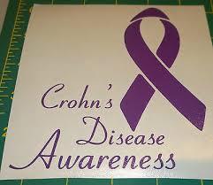Crohn S Disease Awareness Ribbon Vinyl Decal For Car Truck Or Jeep Ebay